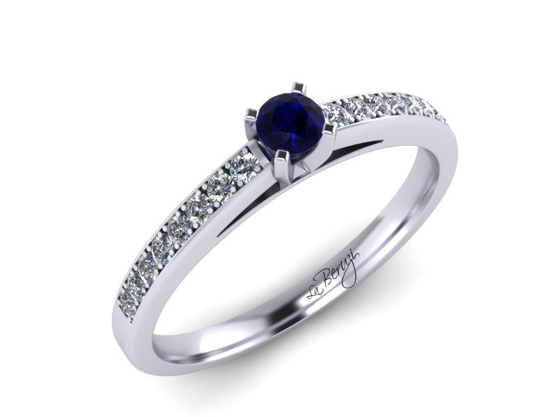 Inel de logodna din aur alb 14K cu diamant de 0,22 ct - MDA059d V3 LA Beruzi