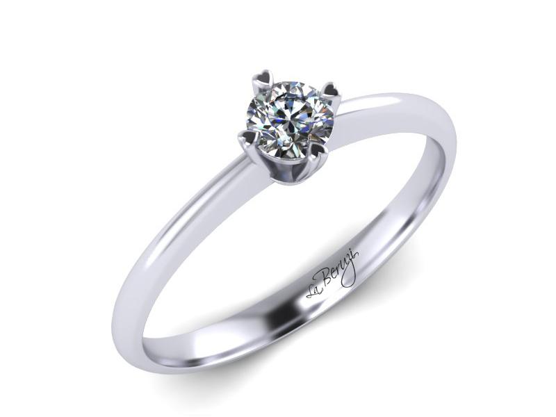 Inel de logodna din aur alb 14K cu diamant de 0,20 ct - MDA061d V1 LA Beruzi
