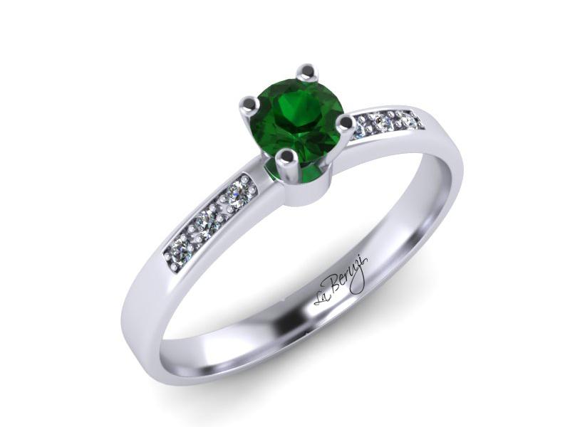 Inel de logodna din aur alb 14K cu diamante de 0,16 ct - MDZ054d