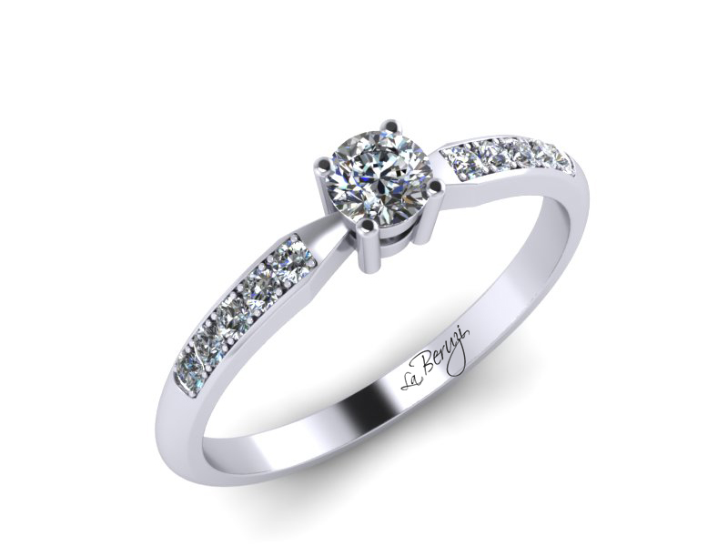 Inel de logodna din aur alb 14K cu diamante de 0,27 ct - MDA046 V1