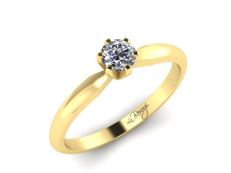 Inel de logodna din aur galben 14K cu diamant de 0,20 ct - MDA032 V3