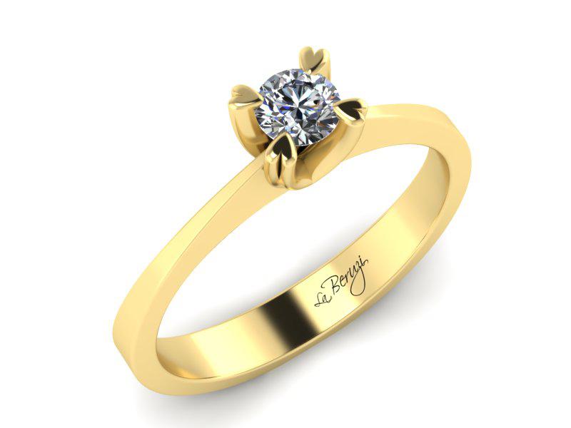 Inel de logodna din aur galben 14K cu diamant de 0,25 ct - MDA007 V3