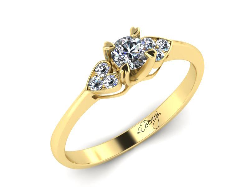 Inel de logodna aur 14K cu diamante de 0,31 ct- MDA008 V3