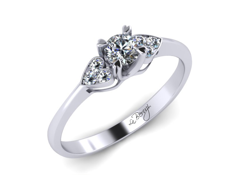 Inel de logodna aur alb 14K cu diamante de 0,18ct- MDA008