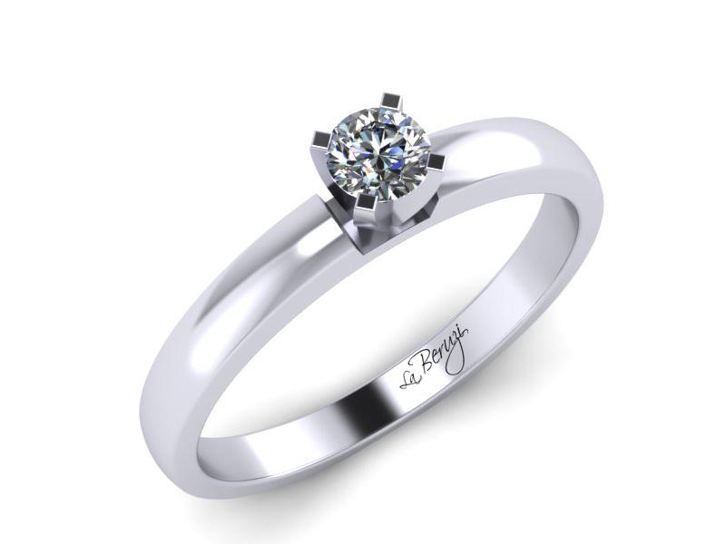 Inel de logodna din aur alb 14K cu diamant de 0,07 ct - MDA041