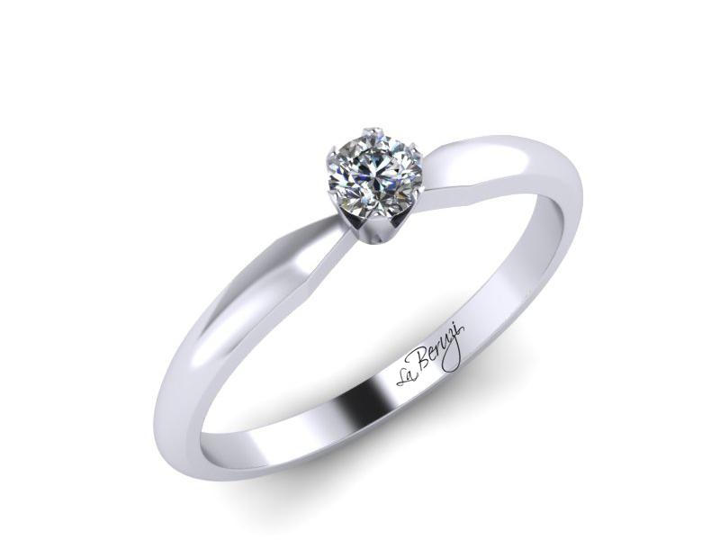 Inel de logodna din aur alb 14K cu diamant de 0,09 ct - MDA042 V2