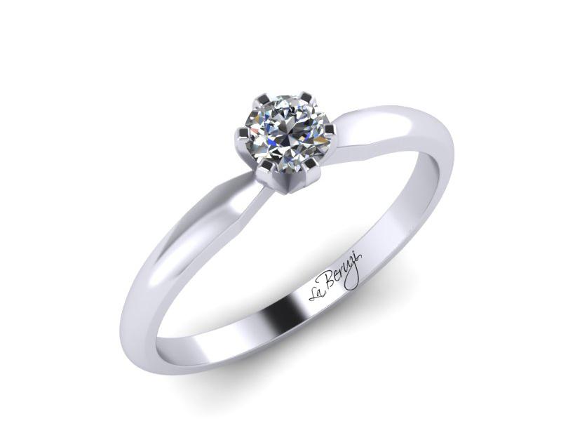 Inel de logodna din aur alb 14K cu diamant de 0,15 ct - MDA032 V2