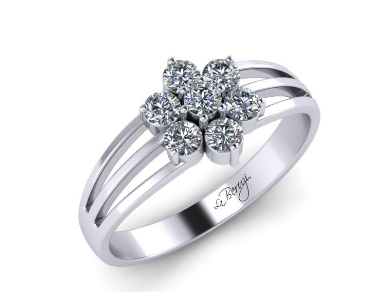 Inel de logodna aur alb 14K cu diamante de 0,28ct - MDA043