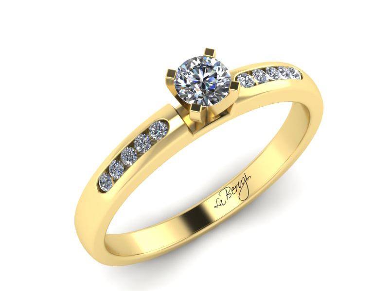 Inel de logodna din aur galben 14K cu diamante de 0,28 ct - MDA014 V3