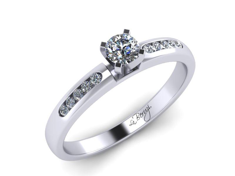 Inel de logodna din aur alb 14K cu diamante de 0,21 ct - MDA014