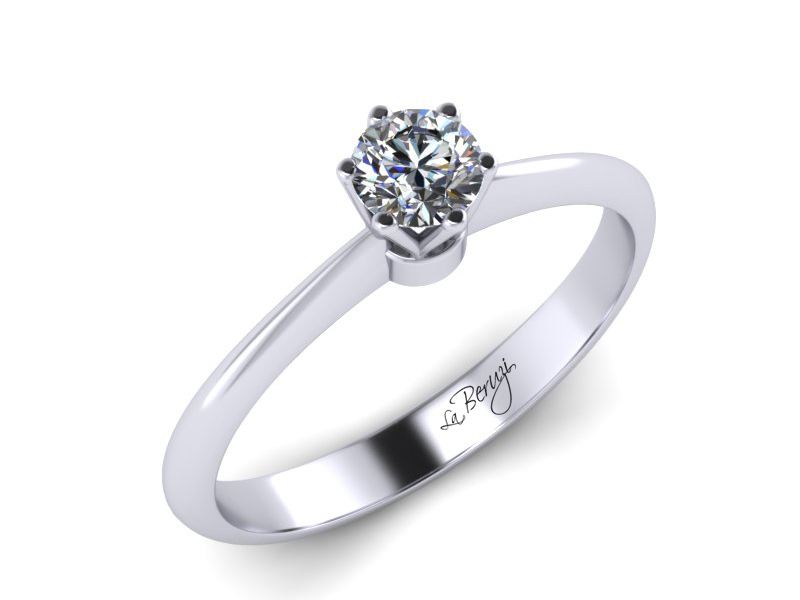Inel de logodna din aur alb 14K cu diamant de 0,20 ct - MDA027 V2