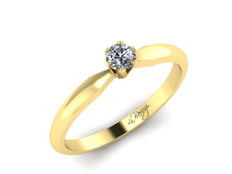 Inel de logodna din aur alb 14K cu diamant de 0,12 ct - MDA042 V3