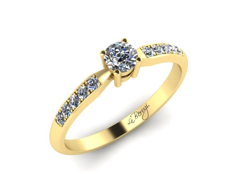 Inel de logodna din aur galben 14K cu diamante de 0,37 ct - MDA046 V3