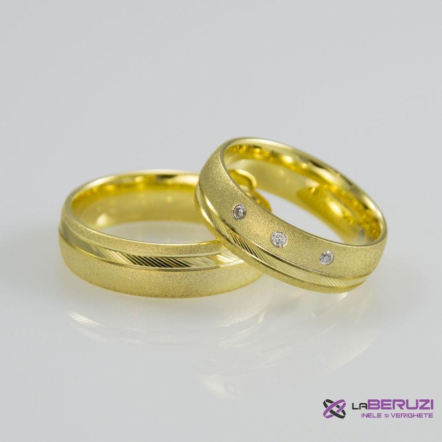 Verighete din aur de 14k SS 335