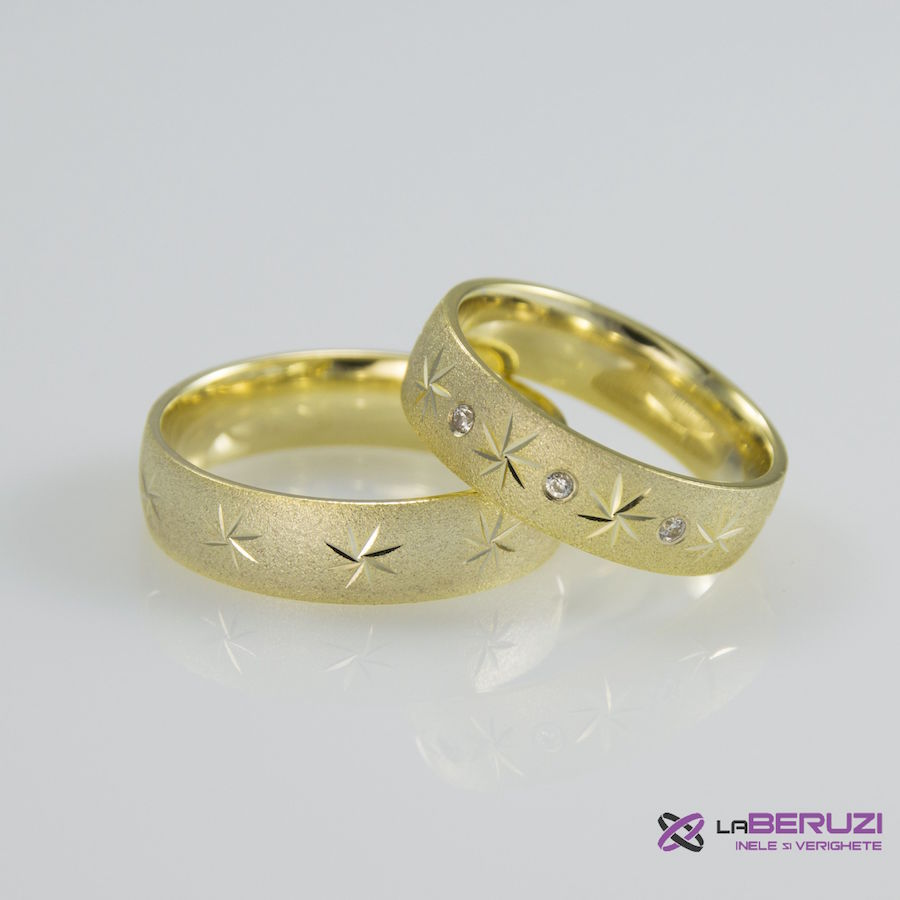 Verighete din aur de 14k SS 358